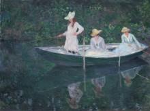 Лодка в Живерни, 1887 - Моне, Клод
