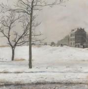 Монматр под снегом - Рафаэлли, Жан Франсуа