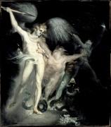 Сатана и Смерть с грешником - Фюссли, Иоганн Генрих