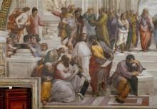 Станца делла Сеньятура: Афинская школа (фрагмент) - Рафаэль, Санти
