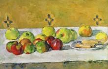 Яблоки и бисквиты - Сезанн, Поль