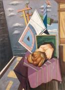 Метафизический интерьер с натюрмортом - Кирико, Джорджо де
