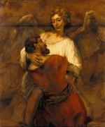 Борьба Иакова с ангелом - Рембрандт, Харменс ван Рейн