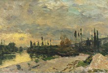 Закат на Сене близ Ветейль - Лебург, Альберт