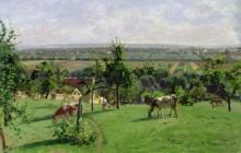 Склон холма в Везине - Писсарро, Камиль