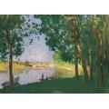 Речной берег, Море-сюр-Луэн, 1910 - Монтезен, Пьер-Эжен