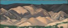 Пейзаж близ Абикиу, Нью-Мексико II - О'Кифф, Джорджия