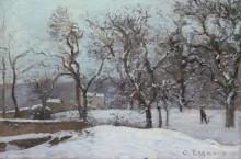Снег в Лувесьене - Писсарро, Камиль