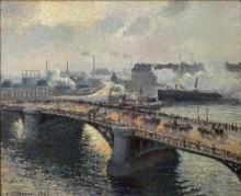 Мост Буальдьё в Руане, заходящее солнце - Писсарро, Камиль