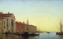 Гондолы на большом канале, Венеция -  Зим, Феликс