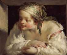 Девушка в окне - Милле, Жан-Франсуа