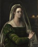 Портрет дамы с атрибутами святой Агаты -  Пьомбо, Себастьяно дель