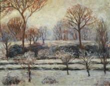 Зимний пейзаж - Моне, Бланш Ошеде