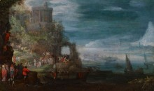 Прибрежный пейзаж с исцелением одержимых - Брейгель, Ян (Старший)