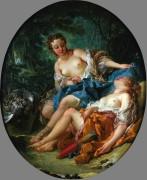 Диана с нимфой после охоты - Буше, Франсуа