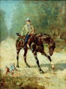 Пейзаж с всадником - Тулуз-Лотрек, Анри де