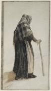 Пожилая женщина в шали и с тростью (Old Woman with a Shawl and a Walking Stick), 1882 - Гог, Винсент ван