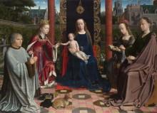 Мадонна с младенцем со святыми - Давид, Герард
