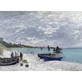 Пляж в Сент-Адрес, 1867 - Моне, Клод