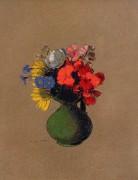 Герании и полевые цветы - Редон, Одилон