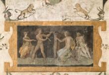 Фрески в лоджии кардинала Бибиены, Ватикан - Аполлон и Марсий - Рафаэль, Санти