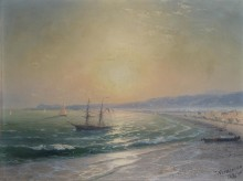 Морской пейзаж в Ницце - Айвазовский, Иван Константинович