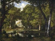 Лесной пейзаж с прудом - Диас де ла Пенья, Нарсис