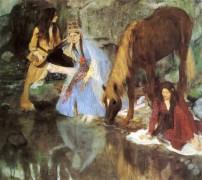 """Мадемуазель Фиокр на балете """"Источник"""", 1868 - Дега, Эдгар"""