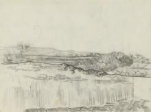 Стена, окружающая пшеничное поле возле приюта(The Wall Enclosing the Wheatfield near the Asylum), 1890 - Гог, Винсент ван