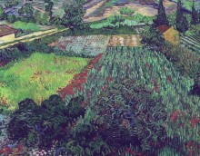 Поле с маками (Field with Poppies), 1889 - Гог, Винсент ван