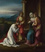 Христос прощаясь со своей матерью - Корреджо, Антонио да