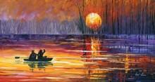 Рыбалка на закате дня - Афремов, Леонид (20 век)