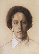 Портрет поэта А. Фета - Сомов, Константин Андреевич