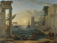 Морской порт. Посадка царицы Савской - Лоррен, Клод (Желле)