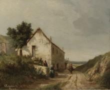 Дом у Дороги Кампань, 1856 - Писсарро, Камиль