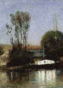 Лодки на Сене, 1871 - Лебург, Альберт