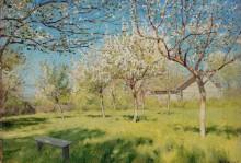 Весна. Цветущие яблони - Левитан, Исаак Ильич