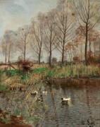 Утки на пруду - Линс, Адольф