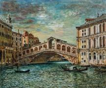 Мост Риальто, Венеция - Кирико, Джорджо де