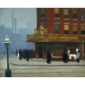 Нью-Йорк, кафе на перекрестке - Хоппер, Эдвард
