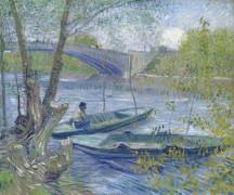 Рыбалка весной, Пон-де-Клиши (Fishing in the Spring, Pont de Clichy), 1887 - Гог, Винсент ван