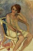 Молодая женщина сидит - Лебаск, Анри