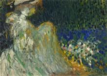 Женщина в саду - Пикассо, Пабло