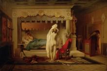 Царь Кандавл показывает свою красавицу-супругу Гигесу - Жером, Жан-Леон