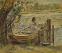 Молодая женщина в лодке - Ренуар, Пьер Огюст