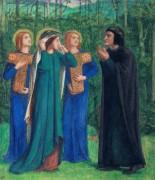 Встреча Данте и Беатриче в раю - Россетти, Данте Габриэль
