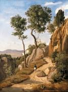 Пейзаж в Вольтерре - Коро, Жан-Батист Камиль