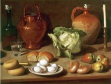 Натюрморт с яйцом, капустой -  Маджини, Карло