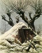 Снежные хижины, 1827 - Фридрих, Каспар Давид