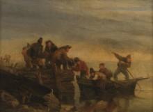 Рыбаки в лодке, 1853-56 - Буден, Эжен